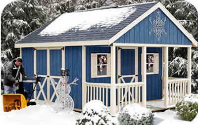 Fairview 12x16 wood storage shed kit w porch for Front porch kits for sale