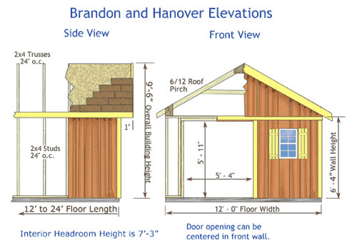 Hanover Storage Shed Dimensions