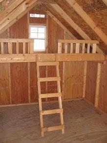 ... Cape Code Playhouse Shed Interior Loft ...